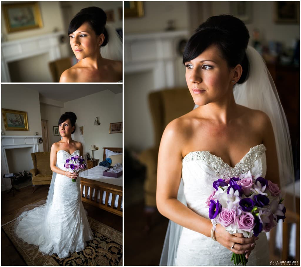 Natural light bride portraits