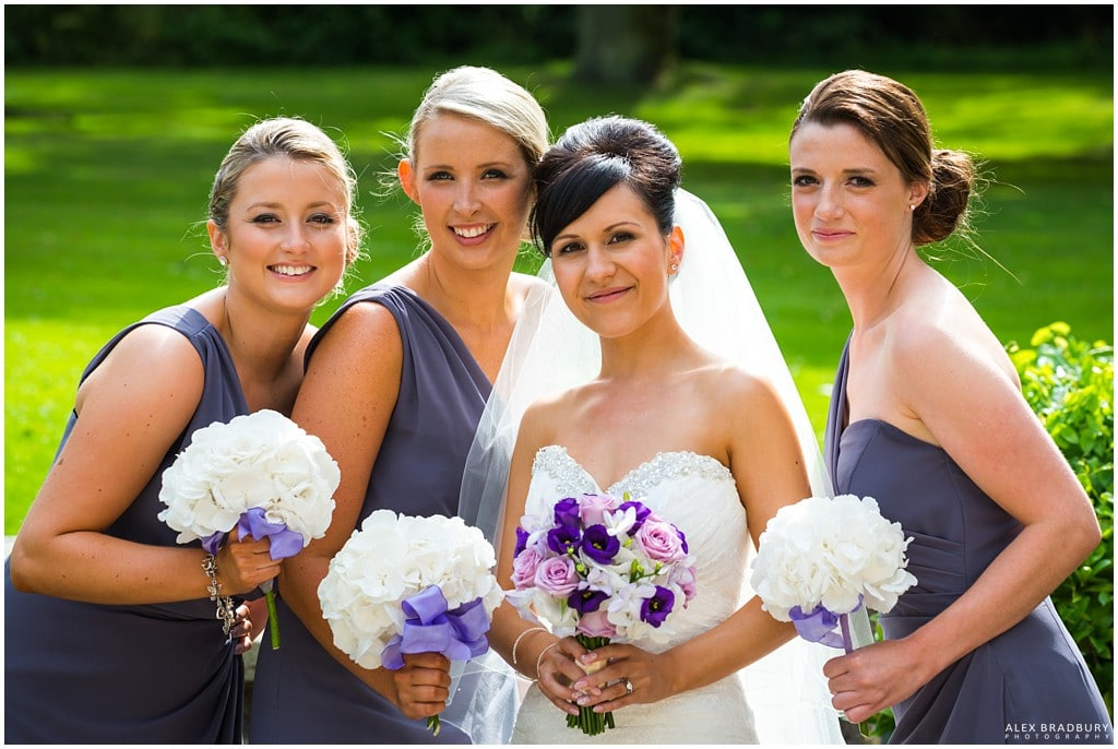 Bride and bridesmaids group shot