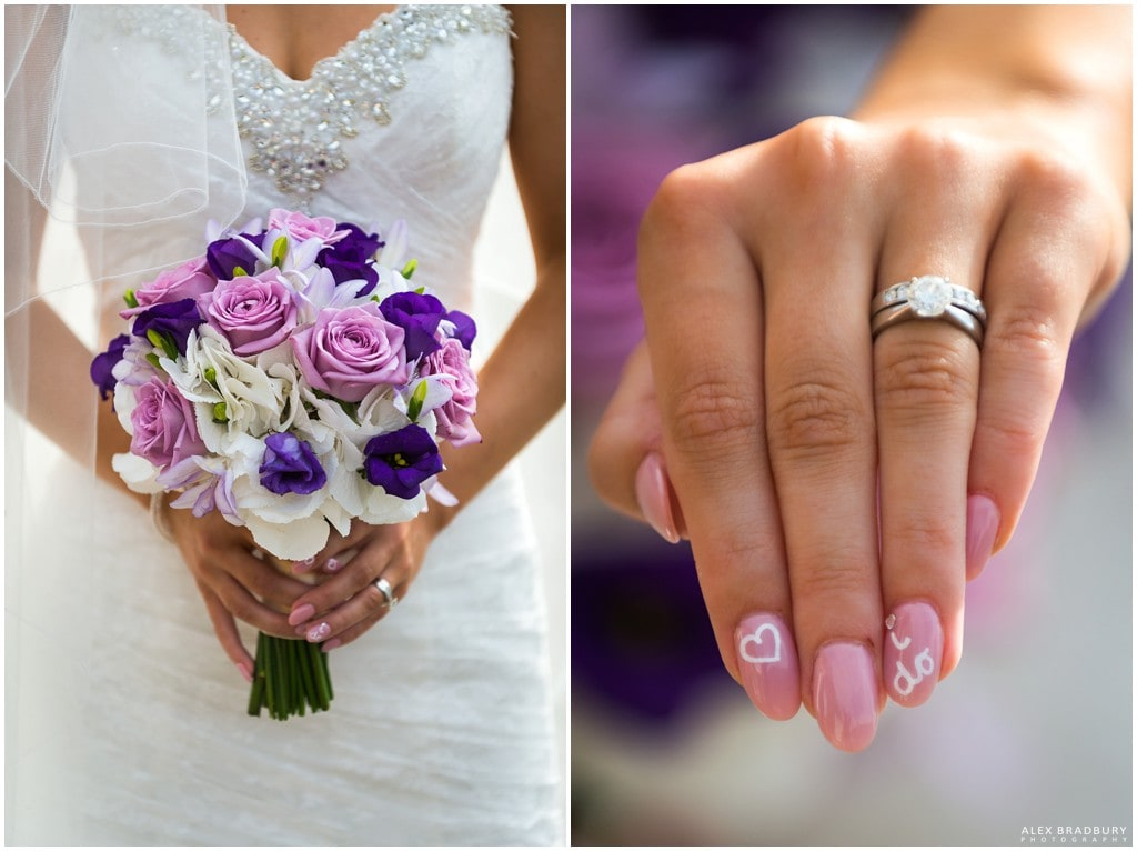 Bouquet and brides finger details