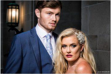 Bride and groom fashion shot