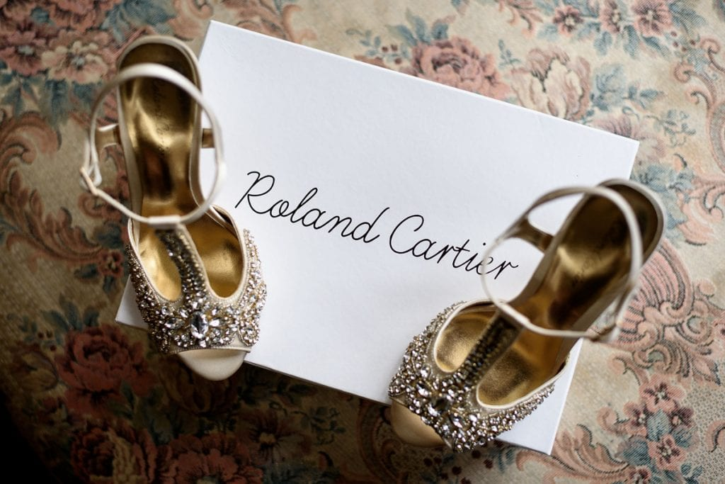 sparkly roland cartier wedding shoes