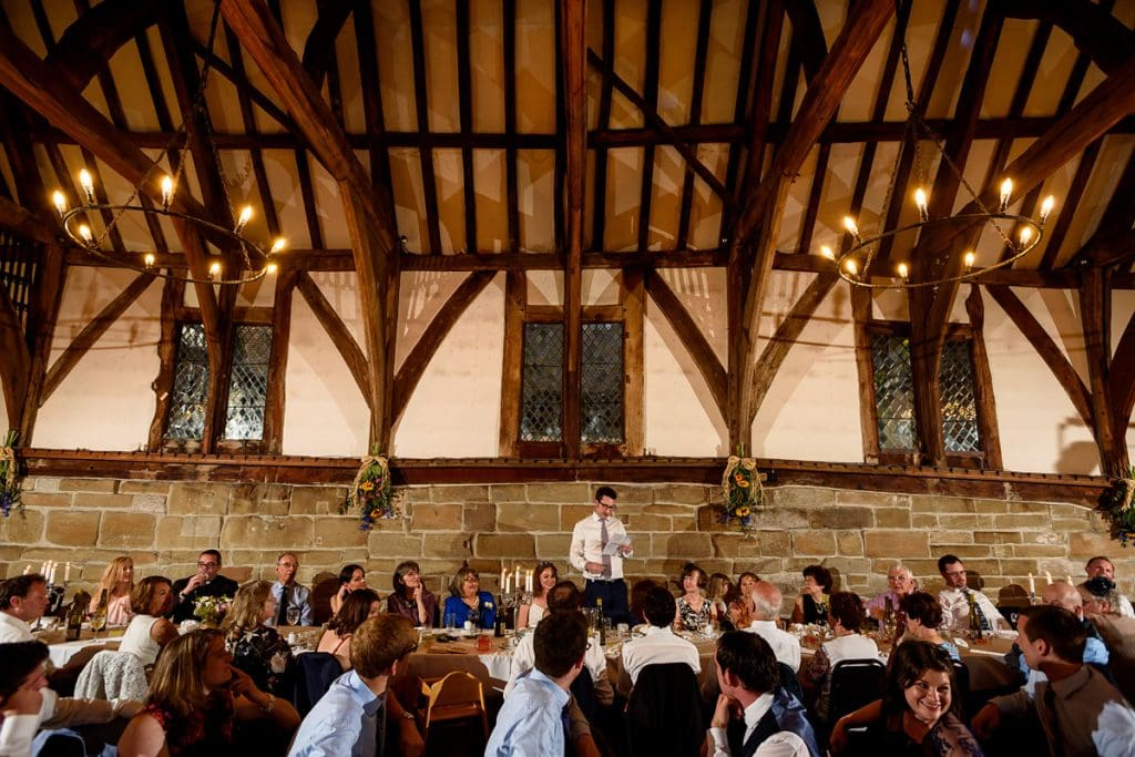 the groom's speech at lord leycester hospital