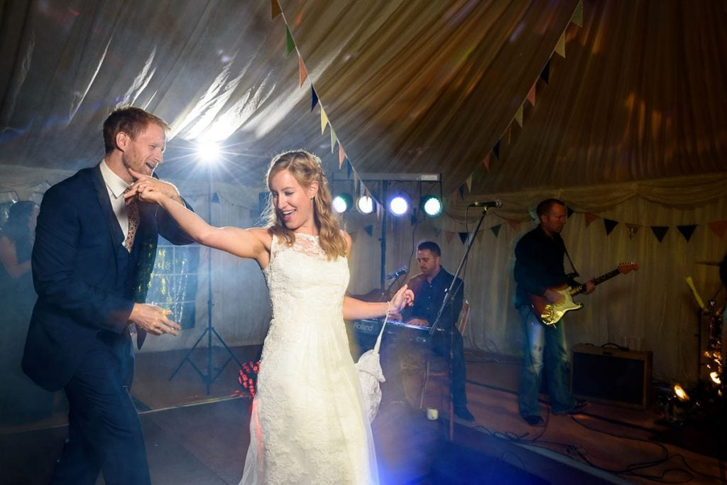 a twirling bride during the first dance