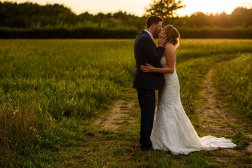 beautiful golden backlight for this couple portrait