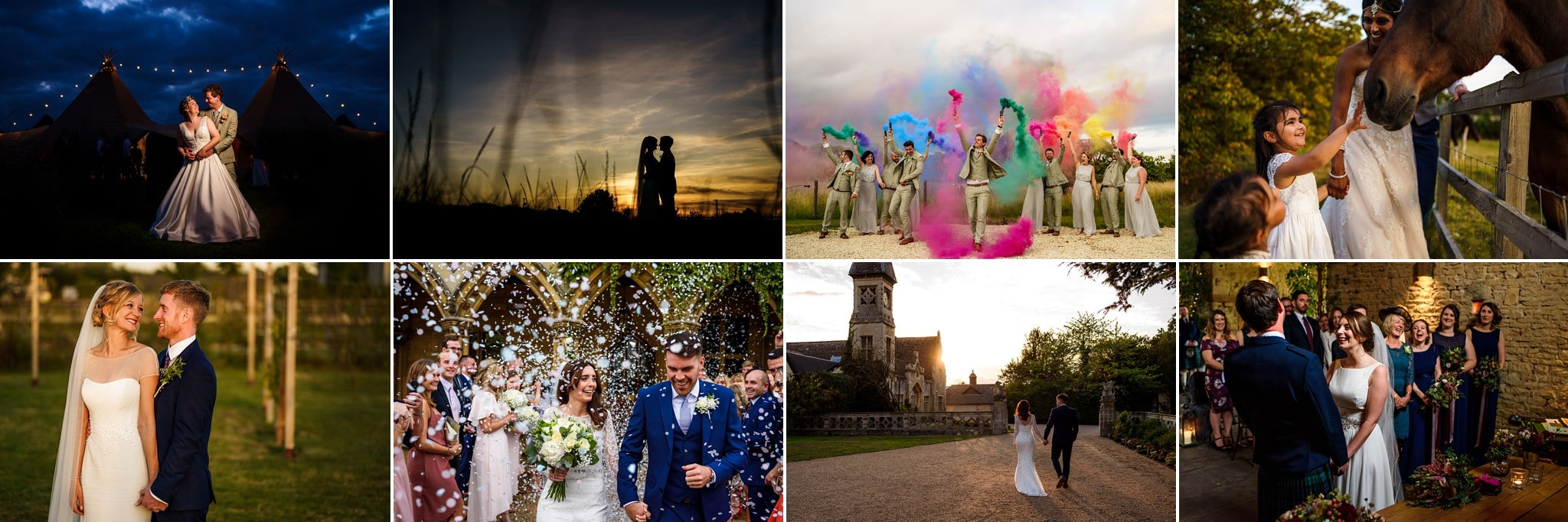 Cotswolds wedding photography banner images