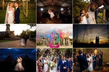 Cotswolds wedding photography collage