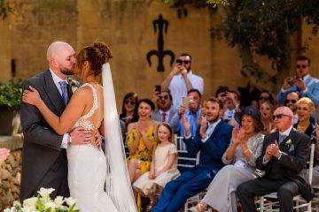 first kiss at Castello Zammitello in Malta